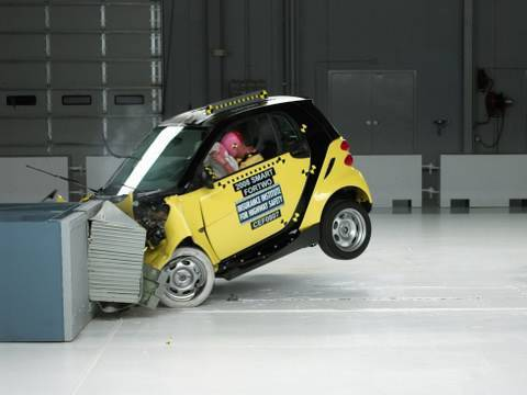 2008 Smart Fortwo frontal offset test