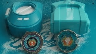 getlinkyoutube.com-MINI Beyblade Battle! Mini Storm Pegasis vs Mini EX Storm Pegasis