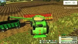 getlinkyoutube.com-Cosecha girasol 2014/Harvest sunflowers Faming simulator 2013