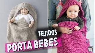 getlinkyoutube.com-PORTA BEBE Tejido en Dos Agujas - Crochet