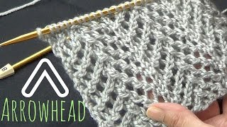 getlinkyoutube.com-Arrowhead Lace Stitch