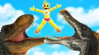 getlinkyoutube.com-ANIMATRONICS vs JURASSIC WORLD! (Gmod FNAF Sandbox Funny Moments) Garry's Mod