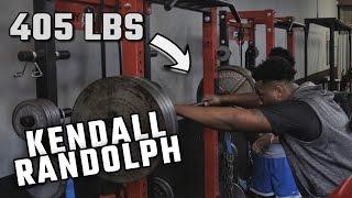 getlinkyoutube.com-Watch Alabama 4-star OT Kendall Randolph squat 405 pounds