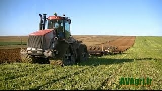 getlinkyoutube.com-CASE IH STX 500 Quadtrac et G&B 13 corps au labour d'hiver en 2013