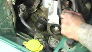 getlinkyoutube.com-Timing Belt & Water Pump Replacement : Loosen Water Pump & Drain Coolant