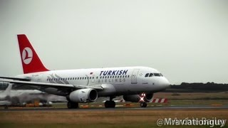 getlinkyoutube.com-Turkish Airlines A319 TC-JLN Land and Takeoff | Edinburgh Airport With ATC.