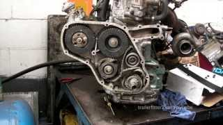 getlinkyoutube.com-Land Rover 200tdi Timing Belt -From Broken Belt to Retiming the Engine