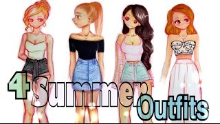 getlinkyoutube.com-😍 DRAWING 4 SUMMER OUTFITS👗 👌