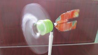getlinkyoutube.com-Cómo hacer un molinillo de viento utilizando botella de plástico | Fabricación de juguetes