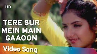 getlinkyoutube.com-Tere Sur Mein Main Gaoon (HD) - Geet Songs - Divya Bharti - Avinash Wadhavan - Alka Yagnik