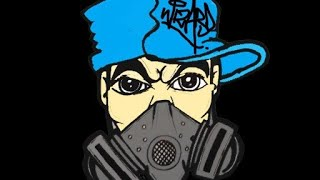 getlinkyoutube.com-Drawing a Gas mask Character with SprayCans by WIZARD - sketch it firdt with pencil