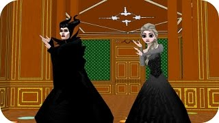 getlinkyoutube.com-Evil Elsa & Maleficent (OlafVids Dancing Series) - Frozen Princess Parody