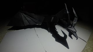 getlinkyoutube.com-Origami Darkness Dragon Timelapse