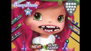 getlinkyoutube.com-Faça Limpeza Nos Dentes Da MORANGUINHO JOGO - Make Cleaning In Strawberry Teeth GAME