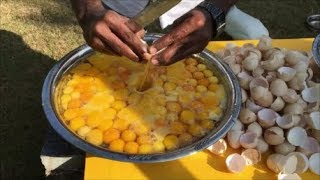 getlinkyoutube.com-Cooking 3 Chickens with 300 Eggs - Cooking for Our Village - Cooking 300 Country Chicken Eggs