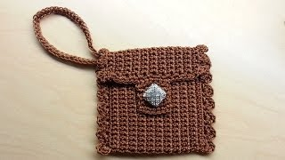 getlinkyoutube.com-CROCHET How to #Crochet Cute Wrist #Wallet Coin #Purse with Nylon Thread! Tutorial #42