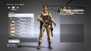 getlinkyoutube.com-MGS5 All DLC Uniforms for Male and Female characters + New D-Horse Equipment