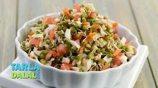 getlinkyoutube.com-Sprouted Moong Salad (Diabetic Recipe), Recipe in Hindi (अंकुरित मूंग का सलाद) by Tarla Dalal