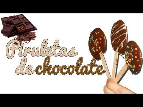Piruletas de chocolate caseras - Dulces DIY (Manualidades Fáciles)