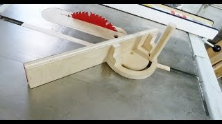 getlinkyoutube.com-Wooden Miter Gauge for Table Saw