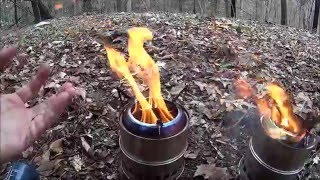 getlinkyoutube.com-20 dollar eBay Stainless Steel Wood Gas Stove Field Use Review.