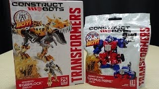 getlinkyoutube.com-Construct Bots GRIMLOCK & DINOBOT RIDER OPTIMUS PRIME: EmGo Builds Stuff
