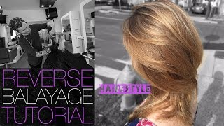 getlinkyoutube.com-How To: REVERSE BALAYAGE TECHNIQUE To Add Depth To Overly BLONDE Hair - Tutorial