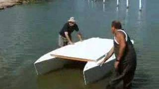 getlinkyoutube.com-My Stitch & Glue Pontoon Boat