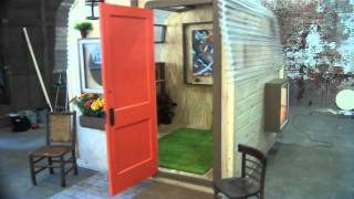 getlinkyoutube.com-8' by 8' tiny prefabricated guest house, cabin, small shelter, shed