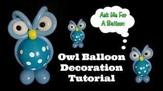 getlinkyoutube.com-Owl Balloon Decoration Tutorial
