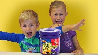 getlinkyoutube.com-ФУ! ФУ! ФУ! Бин Бузлд Челендж дети пробуют конфеты Bean Boozled Challenge