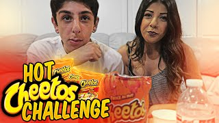 getlinkyoutube.com-HOT CHEETOS CHALLENGE w/ MY COUSIN!!