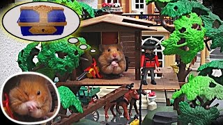 getlinkyoutube.com-Java the tiny pirate hamster, robs a safe in a Playmobil mansion (+English subtitles)