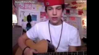 austin mahone ustream with the fans requested