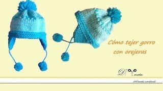 getlinkyoutube.com-Cómo tejer Gorro de niño con dos agujas