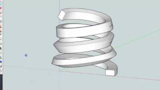 getlinkyoutube.com-How to make spiral 02 by SketchUp
