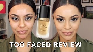getlinkyoutube.com-Too Faced Born This Way Foundation Review and Demo - TrinaDuhra