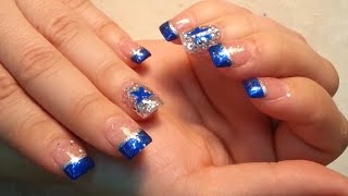 getlinkyoutube.com-Dallas Cowboys Fan Nails Art Design.