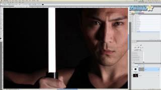 getlinkyoutube.com-Photoshop Tutorial - Lightsaber Effect