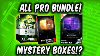MUT 16 ALL PRO BUNDLE PACK OPENING! OMG MYSTERY BOXES! Madden 16 Ultimate Team All Pro Pack Opening
