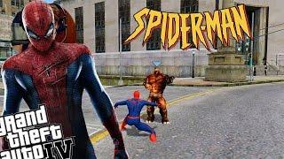 getlinkyoutube.com-GTA IV Amazing Spiderman Mod + Rhino Mod - Rhino Battles Spiderman