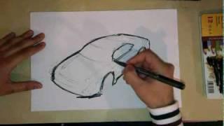 getlinkyoutube.com-3D Car sketch made easy.