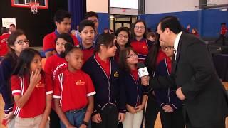 La escuela primaria Frontier celebra la construcción de un gimnasio para usos múltiples