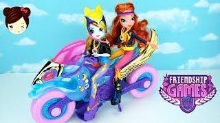 getlinkyoutube.com-Equestria Girls Juguetes Friendship Games Moto Motocross Bike