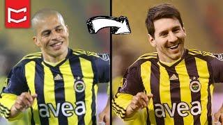 getlinkyoutube.com-Photoshop Yüz Değiştirme ile Forma Giydirme - Messi Fenerbahçe'de