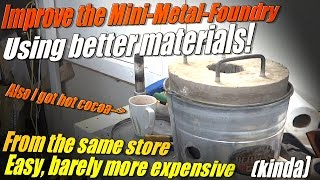 getlinkyoutube.com-How to Make a Better Mini Metal Foundry for Melting Metal and Stuff!