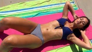 getlinkyoutube.com-Hot Abs Workout!! Best of Brazilian Model Carol Seleme