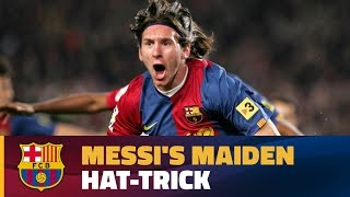 The first of many: Messi's debut hat-trick for FC Barcelona