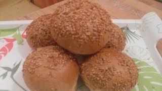 getlinkyoutube.com-Pain burger - Recette des pains burger ou hamburger maison