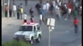 نجاة دورية مرور من مجموعة اثيوبيين